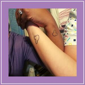 Stef Denise - matching Disney tattoos